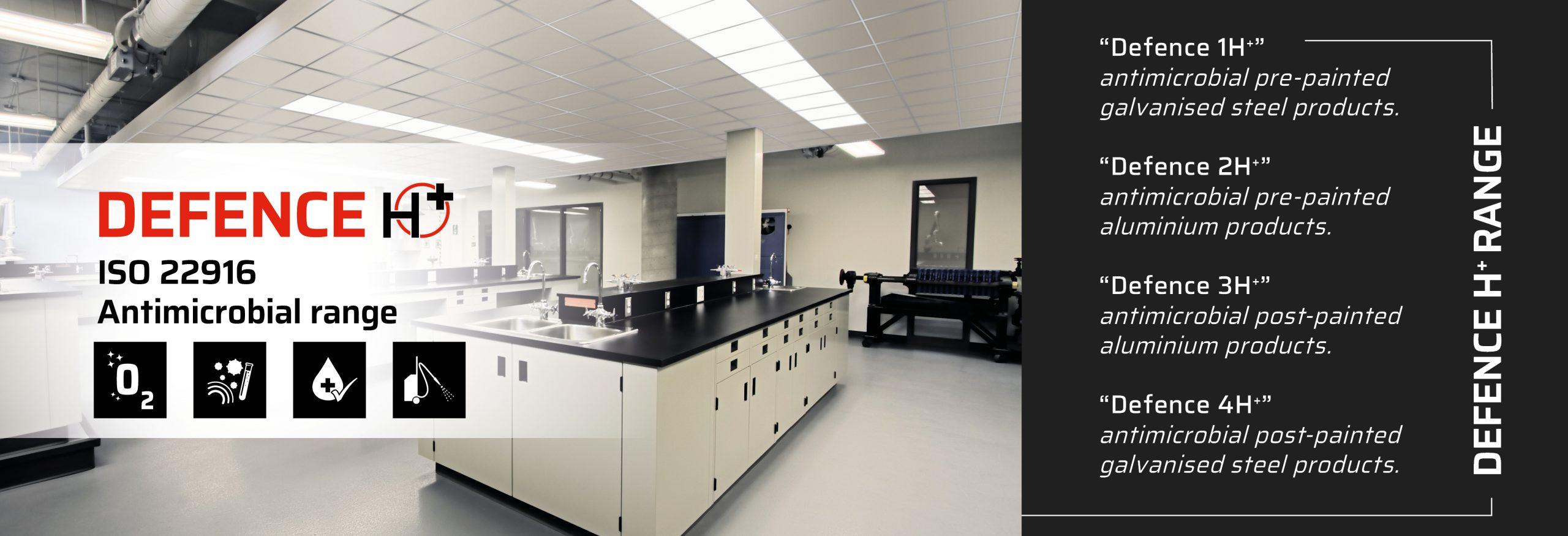 Controsoffitti gamma antimicrobica | Antimicrobial metal ceiling range
