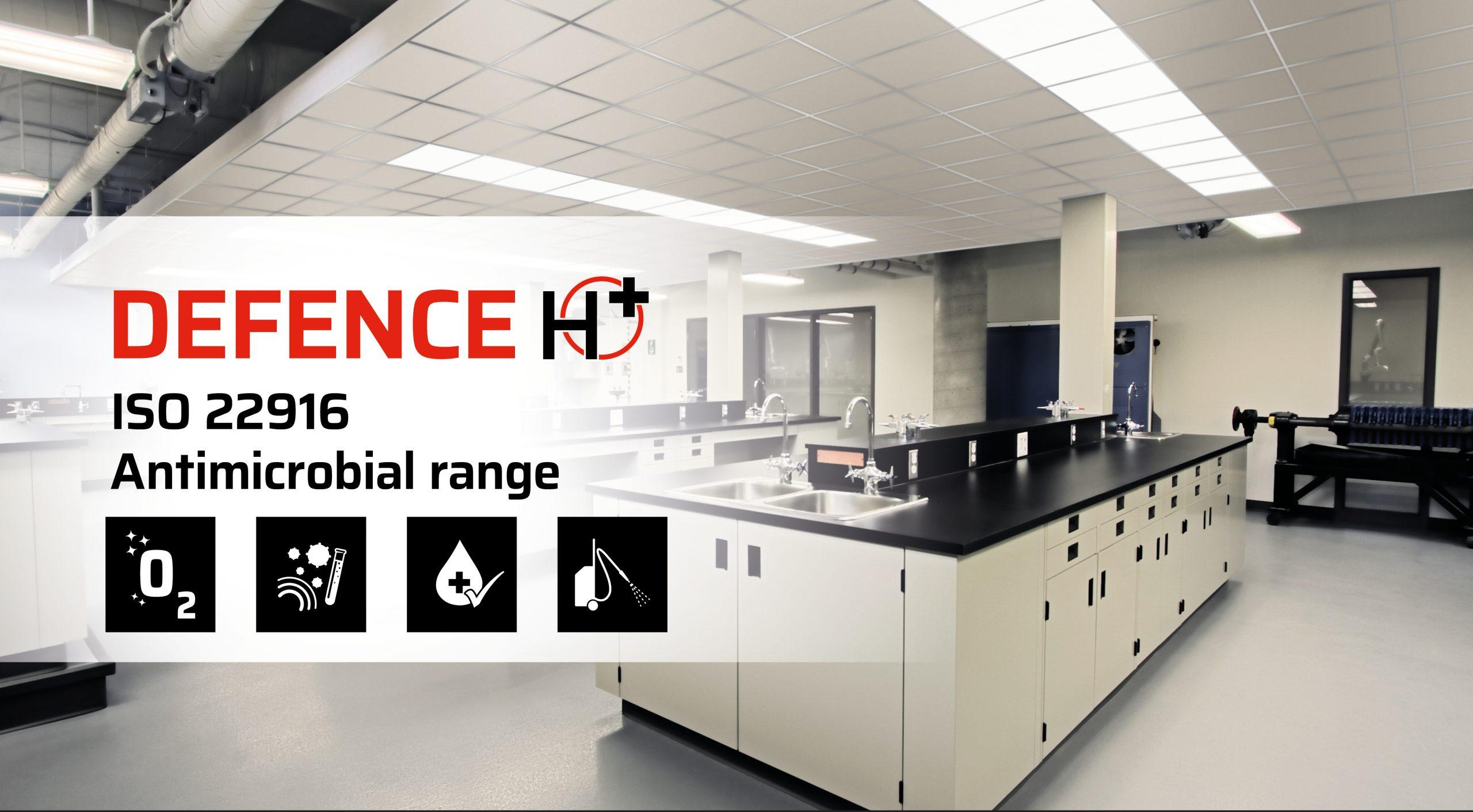 Controsoffitti gamma antimicrobica | Antimicrobial metal ceiling rangeControsoffitti gamma antimicrobica | Antimicrobial metal ceiling range