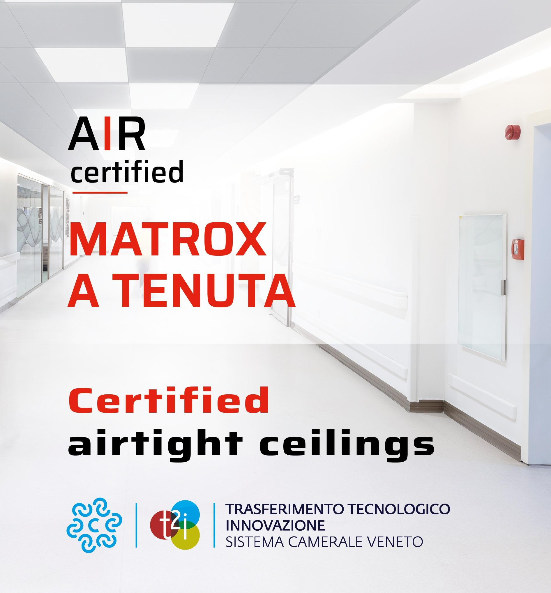 Atena Matrox, controsoffitti a tenuta, Airtight ceilings