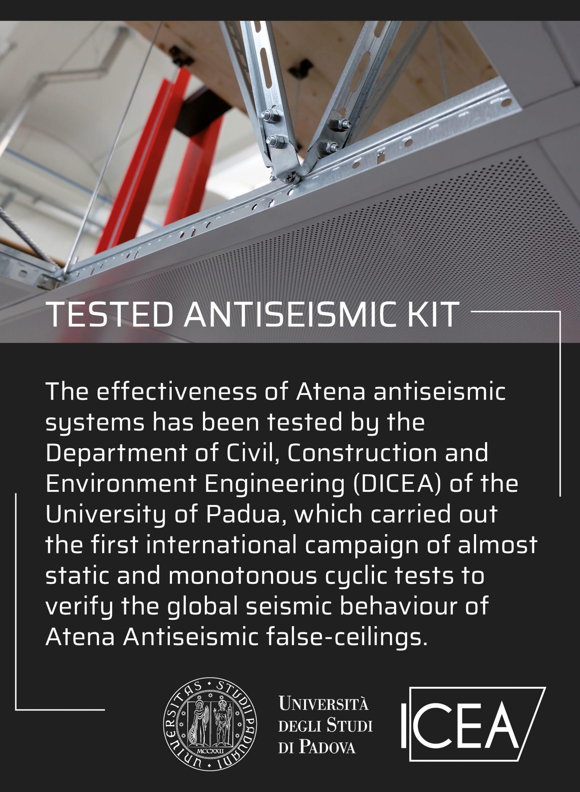Controsoffitti antisismici | Antiseismic ceilings