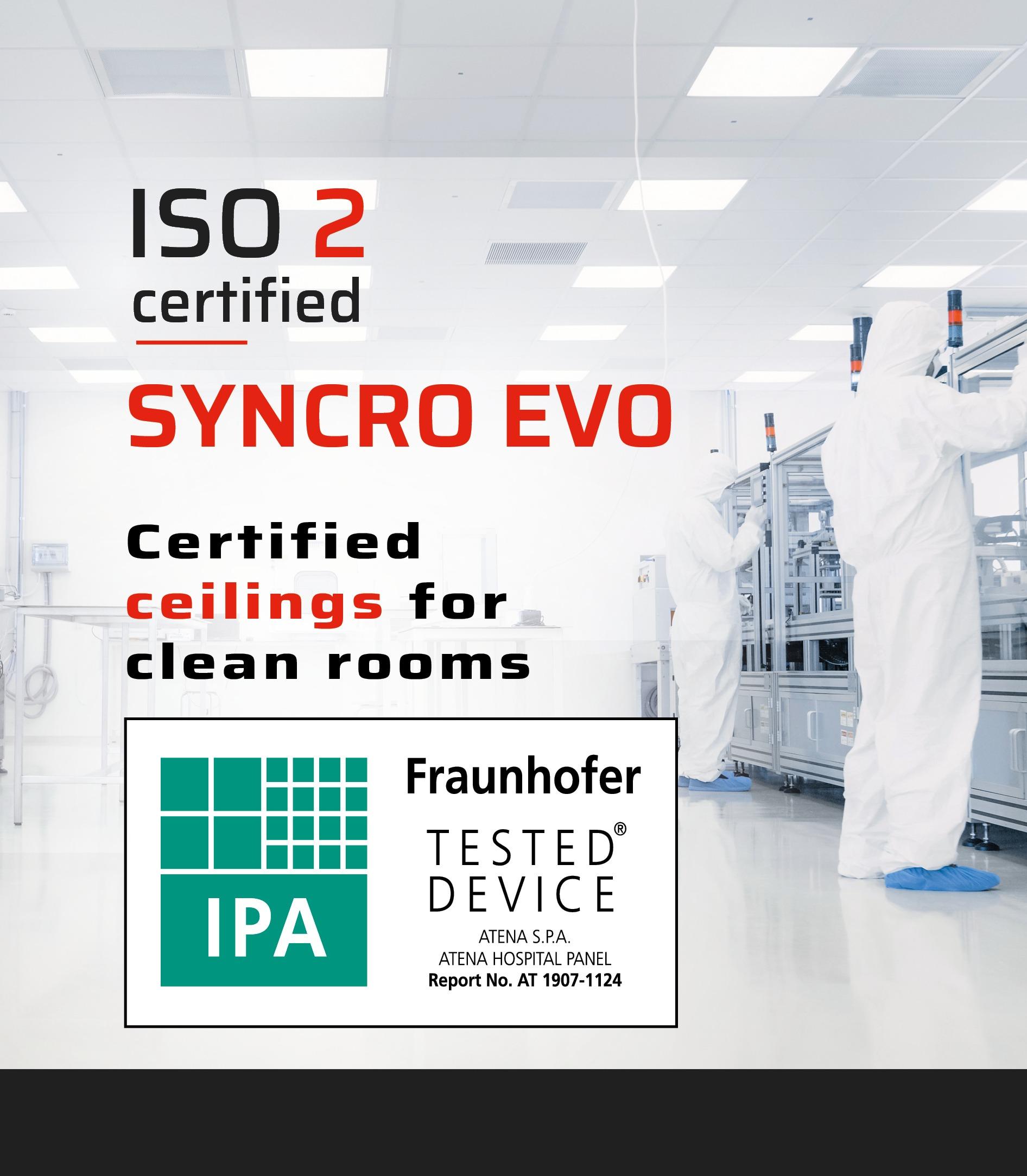 Atena24 SYNCRO EVO Controsoffitti per camere bianche | cleanroom ceilings